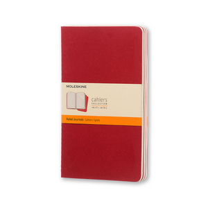 Moleskine Large Cahier Set Of 3 | Cranberry Red | The Gifted Type