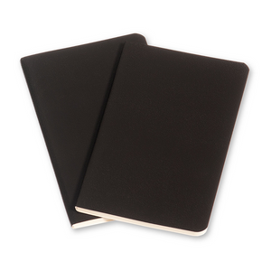 Moleskine Large Volant Notebook Set Of 2 | Black | The Gifted Type