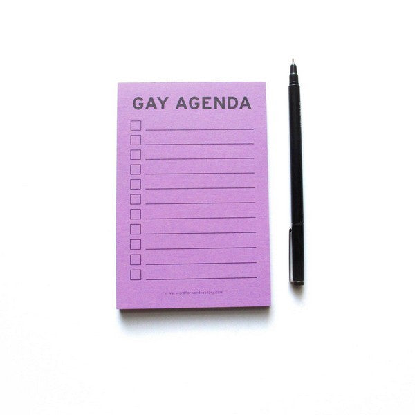 Gay Agenda - Notepad