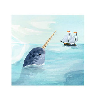 Narwhals Pop-Up Card | Up With Paper | The Gifted Type