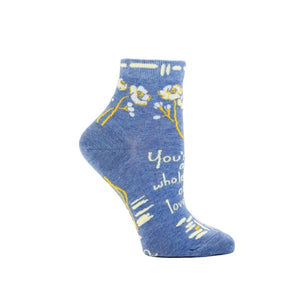 Blue Q Women's Ankle Sock You're A Whole Lot Of Lovely | The Gifted Type