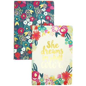 She Dreams In Full Colour | Notebook Set | The Gifted Type