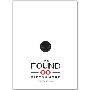 The Found Enamel Pin Love Safety Pin | The Gifted Type