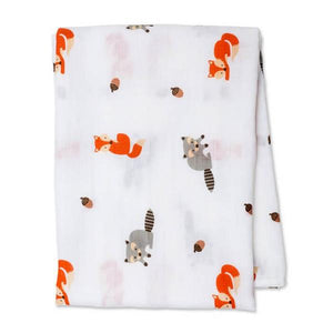 Lulujo Muslin Swaddle Forest Friends | The Gifted Type