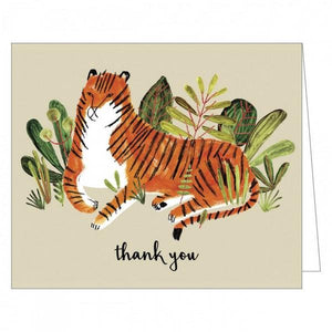 Boxed Notecards GreenThanks Big Cat Set Of 16 | The Gifted Type