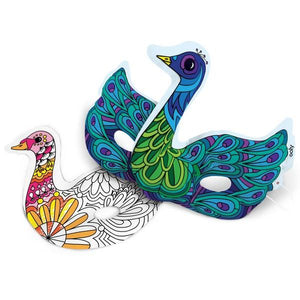 3D Colouring Kit Beautiful Bird Masks | The Gifted Type