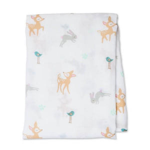 Lulujo Muslin Swaddle Little Fawn | The Gifted Type