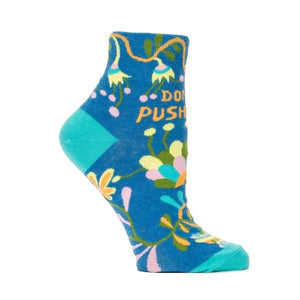 Blue Q Women's Ankle Sock Don't Push Me | The Gifted Type