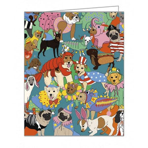 Fancy Dress Dogs Boxed Notecards
