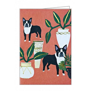 Boxed Notecards Luxe Foil Dogs 'N' Plants Set Of 10 | The Gifted Type