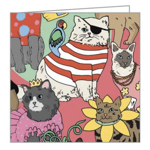 Boxed Notecards Fliptop Mini Fancy Dress Cats Set Of 16 | The Gifted Type