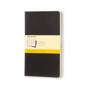 Moleskine Large Cahier Set Of 3 | Black | The Gifted Type