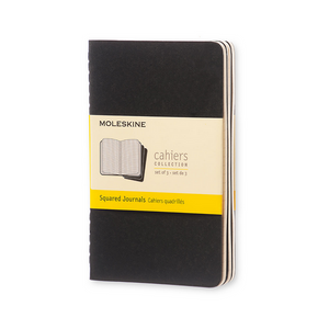 Moleskine Pocket Cahier Set Of 3 | Black | The Gifted Type