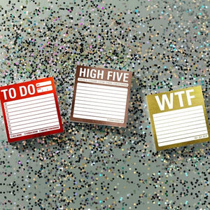 Mental Note Metallic Sticky Notes