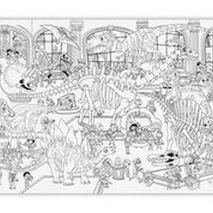 Giant Colouring Poster - Day At the Dino Museum