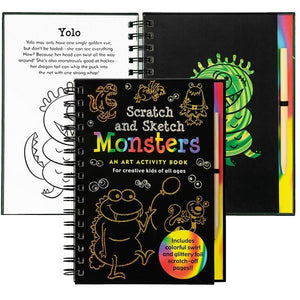 Monsters Scatch And Sketch | Activity Book | The Gifted Type