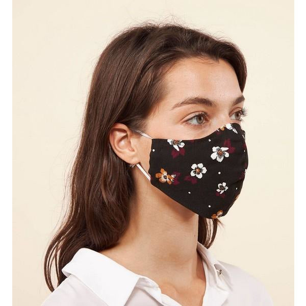 Margaret M Face Mask - Multi-Flower