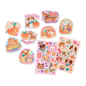 Puppies & Peaches Scented Stickers
