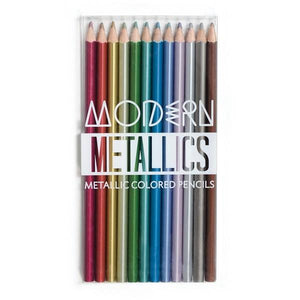 Modern Metallics Pencil Crayons | The Gifted Type