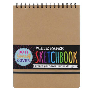 DIY White Paper SKetchbook Large | The Gifted Type