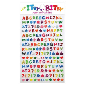 Itsy Bitsy Stickers Pattern Alphabet | The Gifted Type