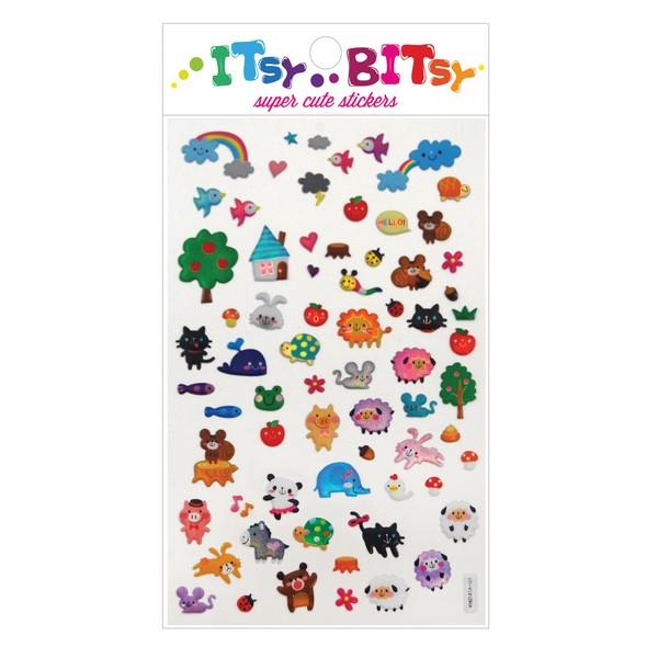 Itsy Bitsy Stickers Animal Town | The Gifted Type