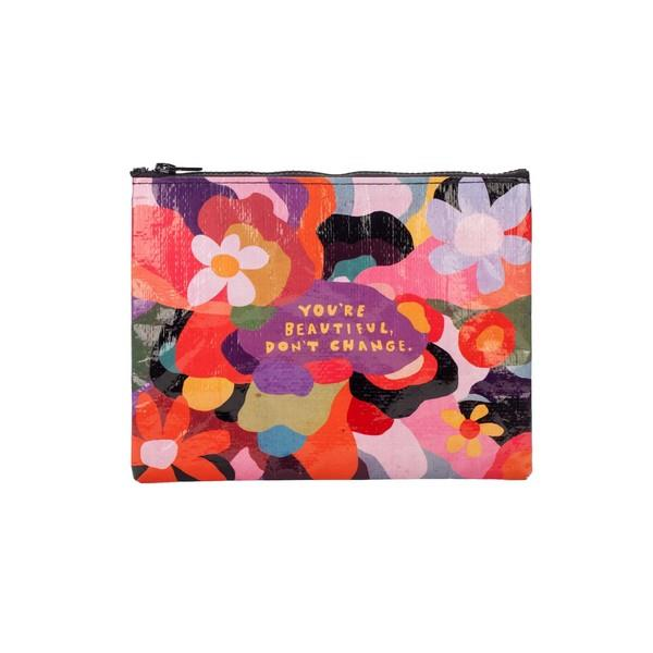 Blue Q Zipper Pouch You're Beautiful Don't Change | The Gifted Type
