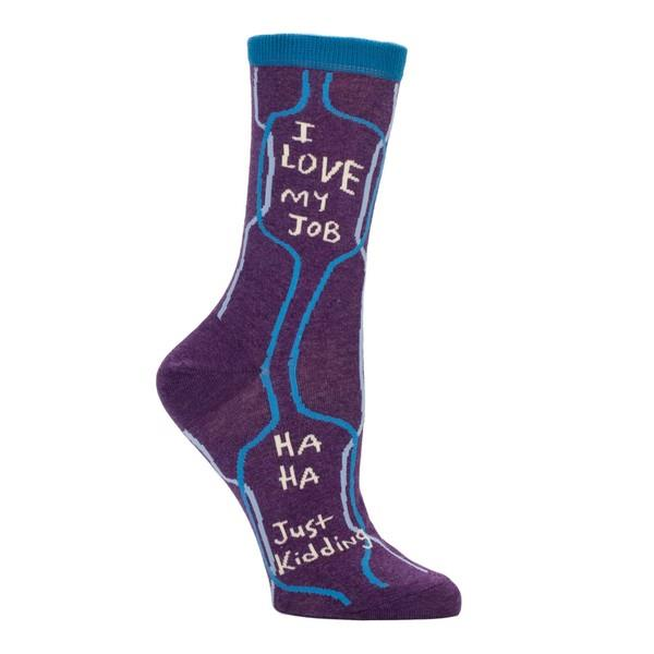 Blue Q Women's Crew Sock I Love My Job | The Gifted Type