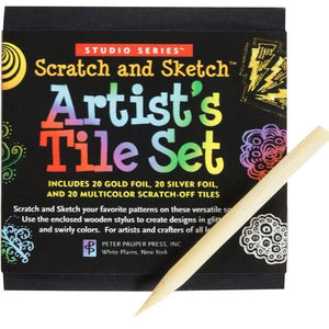 Studio Series Artist's Tiles Scratch And Sketch | The Gifted Type
