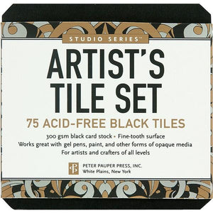 Studio Series Artist's Tiles Black | The Gifted Type