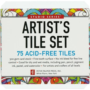Studio Series Artist's Tile Set White | The Gifted Type