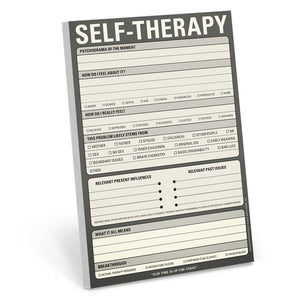 Knock Knock Notepad Self Therapy | The Gifted Type