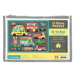 Pouch Puzzle On The Road | 12 Pieces | The Gifted Type