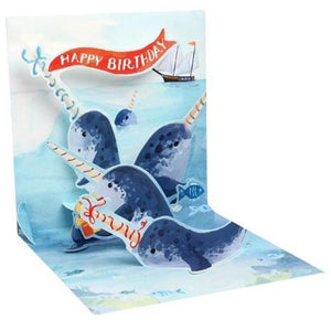 Natwhals Pop-Up Card | Up With Paper | The Gifted Type