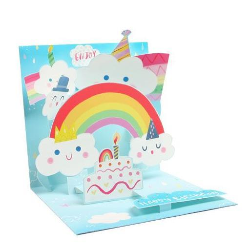Happy Clouds & Rainbows Pop-Up Card | Up With Paper | The Gifted Type