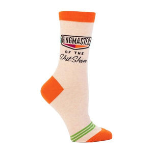 Blue Q Women's Crew Sock Ringmaster Of The Shitshow | The Gifted Type