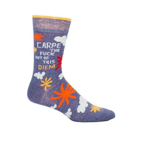 Blue Q Men's Crew Sock Carpe The Fuck Out Of This Diem | The Gifted Type