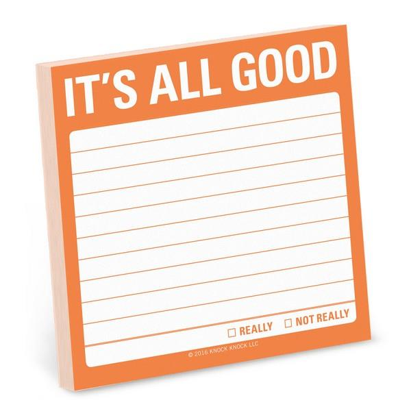 Knock Knock Sticky Notes It's All Good | The Gifted Type