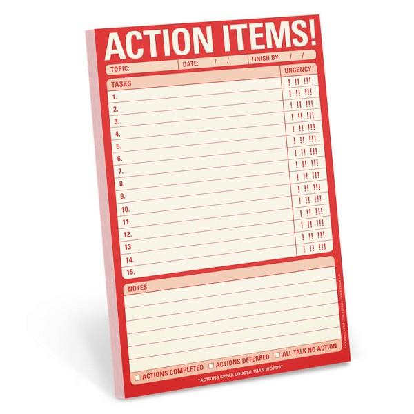Knock Knock Notepad Action Items! | The Gifted Type