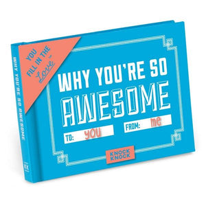 Knock Knock Fill In The Love Journal Why You're So Awesome | The Gifted Type