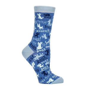 Blue Q Women's Crew Sock Dogs! | The Gifted Type