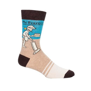 Blue Q Men's Crew Sock Mr. Perfect | The Gifted Type