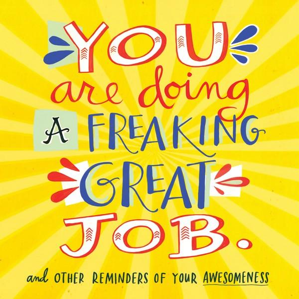 You Are Doing A Freaking Great Job | Creative And DIY Books | The Gifted Type