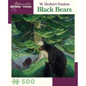 Pomegranate Puzzle Black Bears | 500 Pieces | The Gifted Type