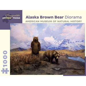 Pomegranate Puzzle Alaska Brown Bear Diorama | 1000 Pieces | The Gifted Type