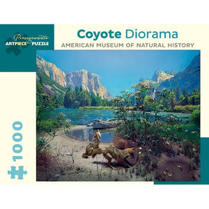 Pomegranate Puzzle Coyote Diorama | 1000 Pieces | The Gifted Type