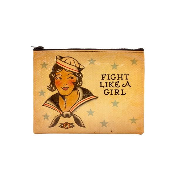 Blue Q Zipper Pouch Fight Like A Girl | The Gifted Type