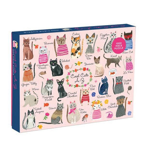 Mudpuppy Puzzle Cool Cats A-Z | 1000 Pieces | The Gifted Type