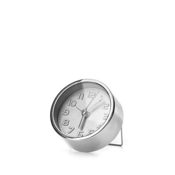 Silver Mini Alarm Clock