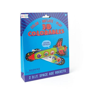 3D Colouring Kit Space Age Rockets | The Gifted Type